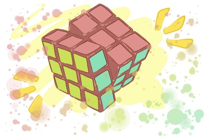hur loser man rubiks kub